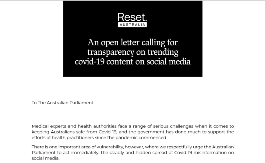 """The great reset has a website called Reset.Tech and """"every industry in the world must follow the rules""""."""